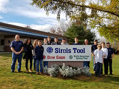 Vinal Tech students take plant tour at Sirois Tool