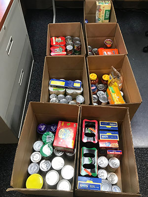 Employee Food Drive at Sirois Tools